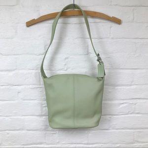 Authentic vintage Coach mint green bucket bag
